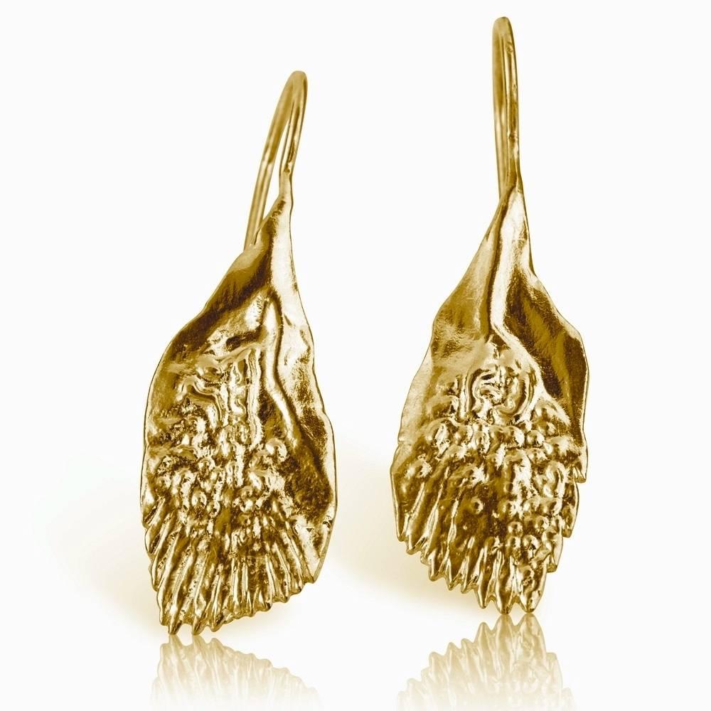 Garfish Scale Earrings - Vermeil