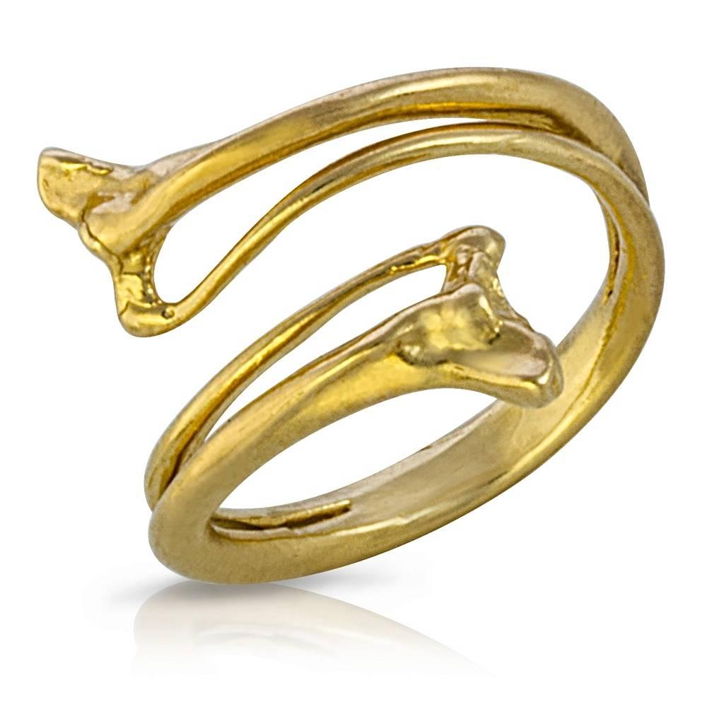 Rattlesnake Double Rib Ring