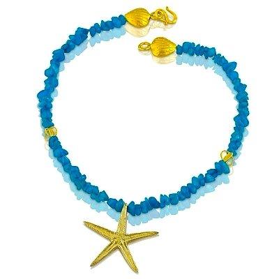 Starfish Pendant Necklace - Vermeil (Large)