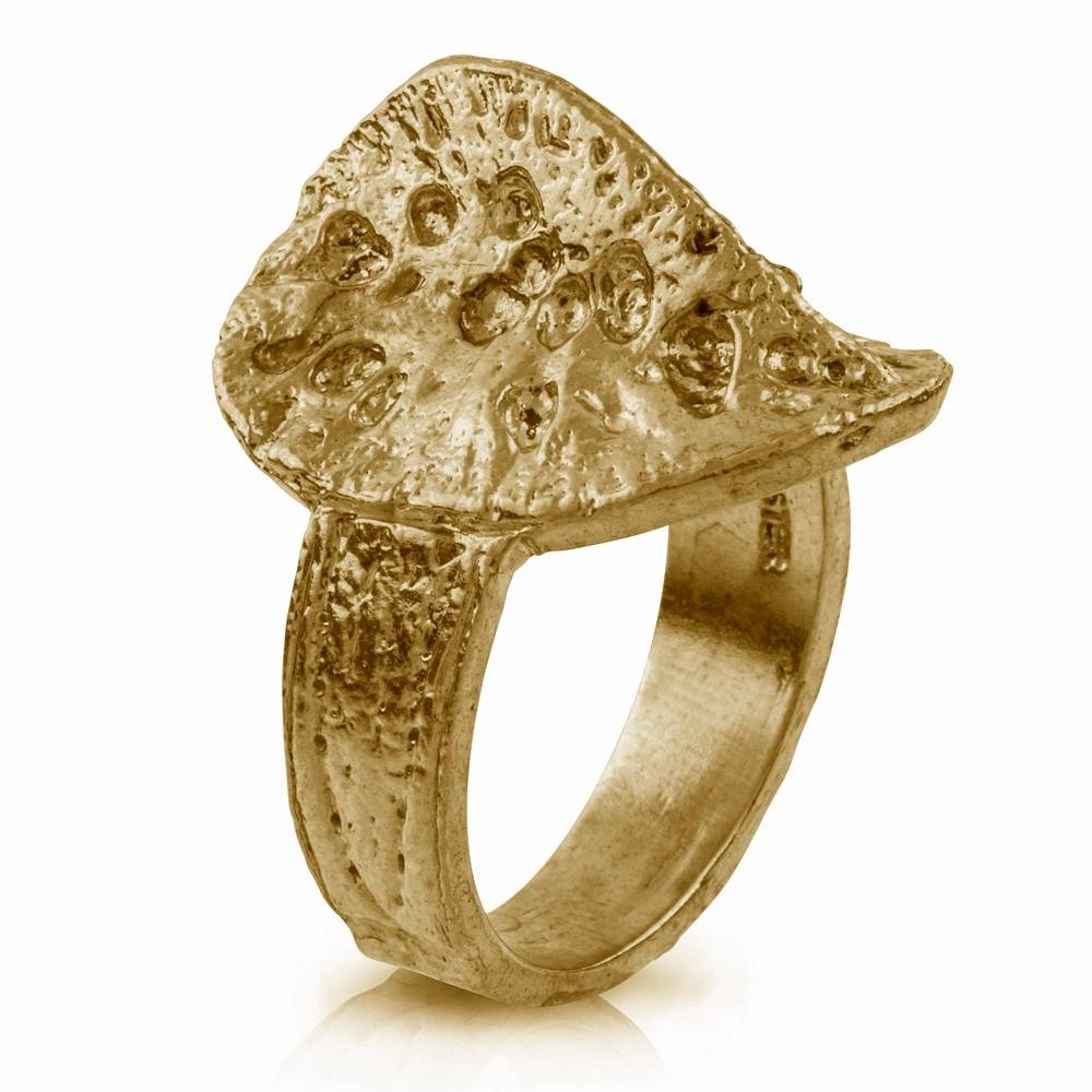 Alligator Scute Ring - Vermeil