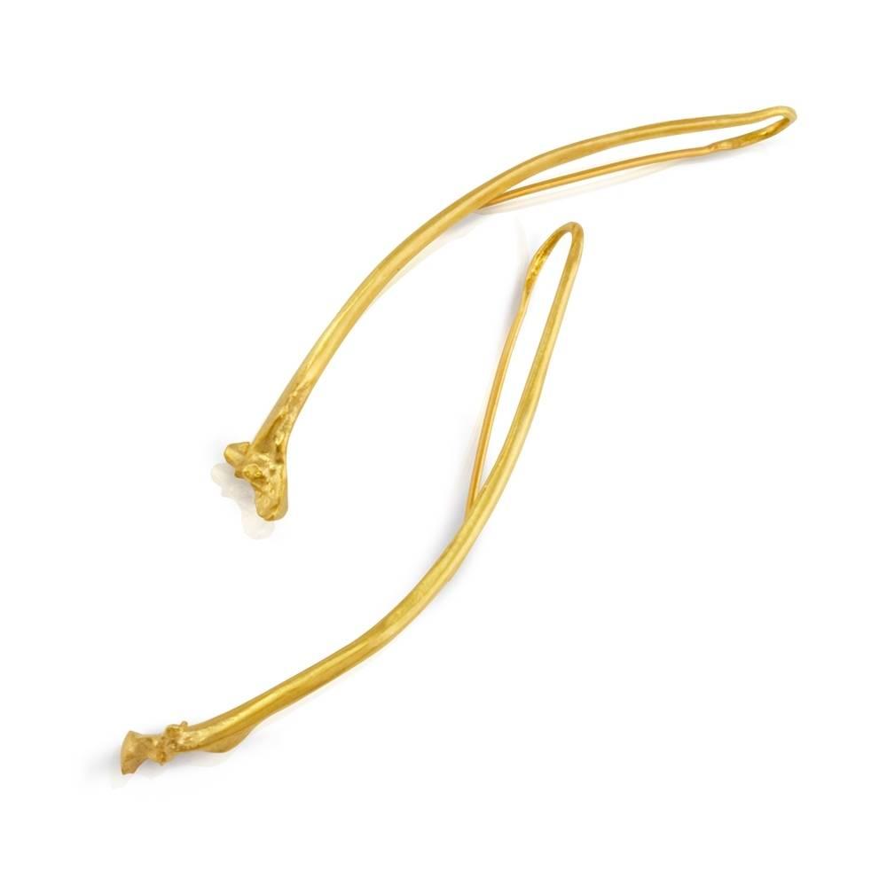 Rattlesnake Rib Earrings - Vermeil