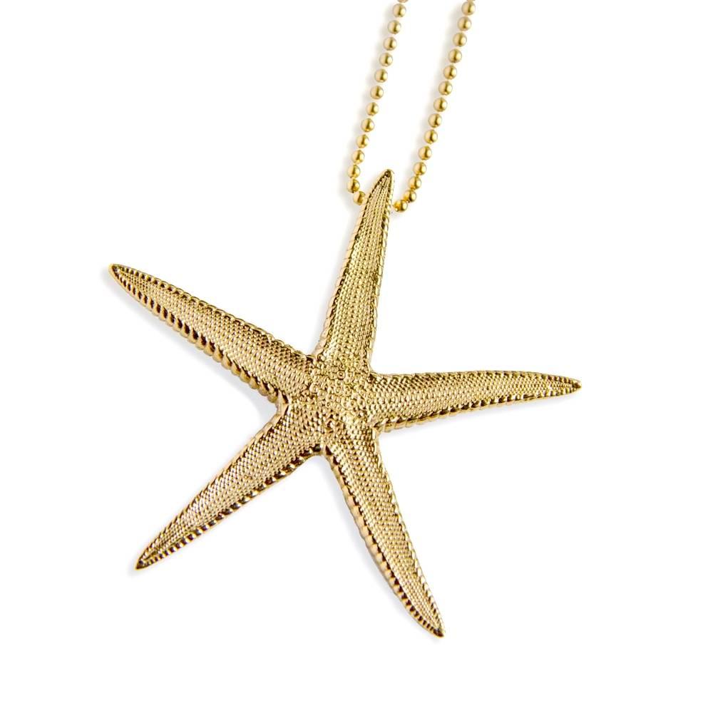 Starfish Pendant - Vermeil (Large)