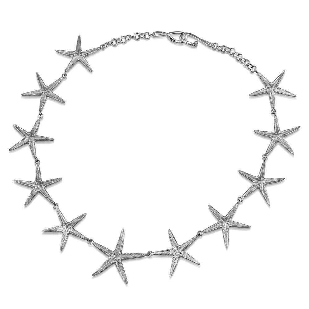 Starfish Necklace - Sterling Silver
