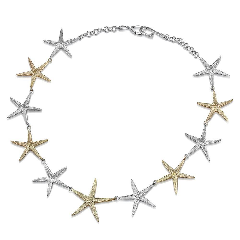 Starfish Necklace - Two Tone