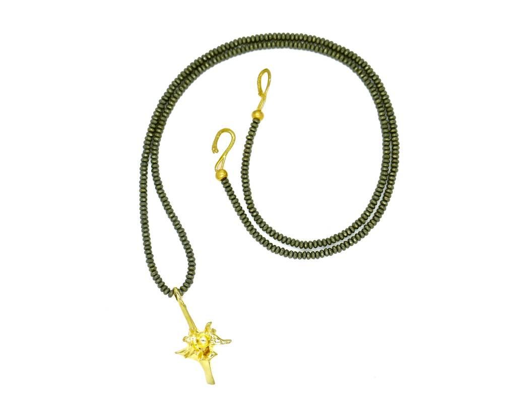 Rattlesnake Vertebrae Pendant Necklace - Vermeil (XL) Opera Length