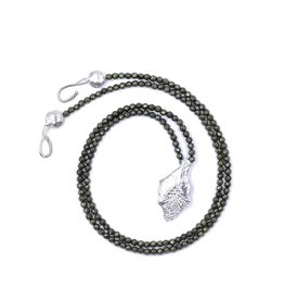 Garfish Scale Pendant Necklace - Sterling Silver (Opera Length) - XL