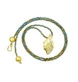 Garfish Scale Pendant Necklace - Vermeil (XL) - Opera