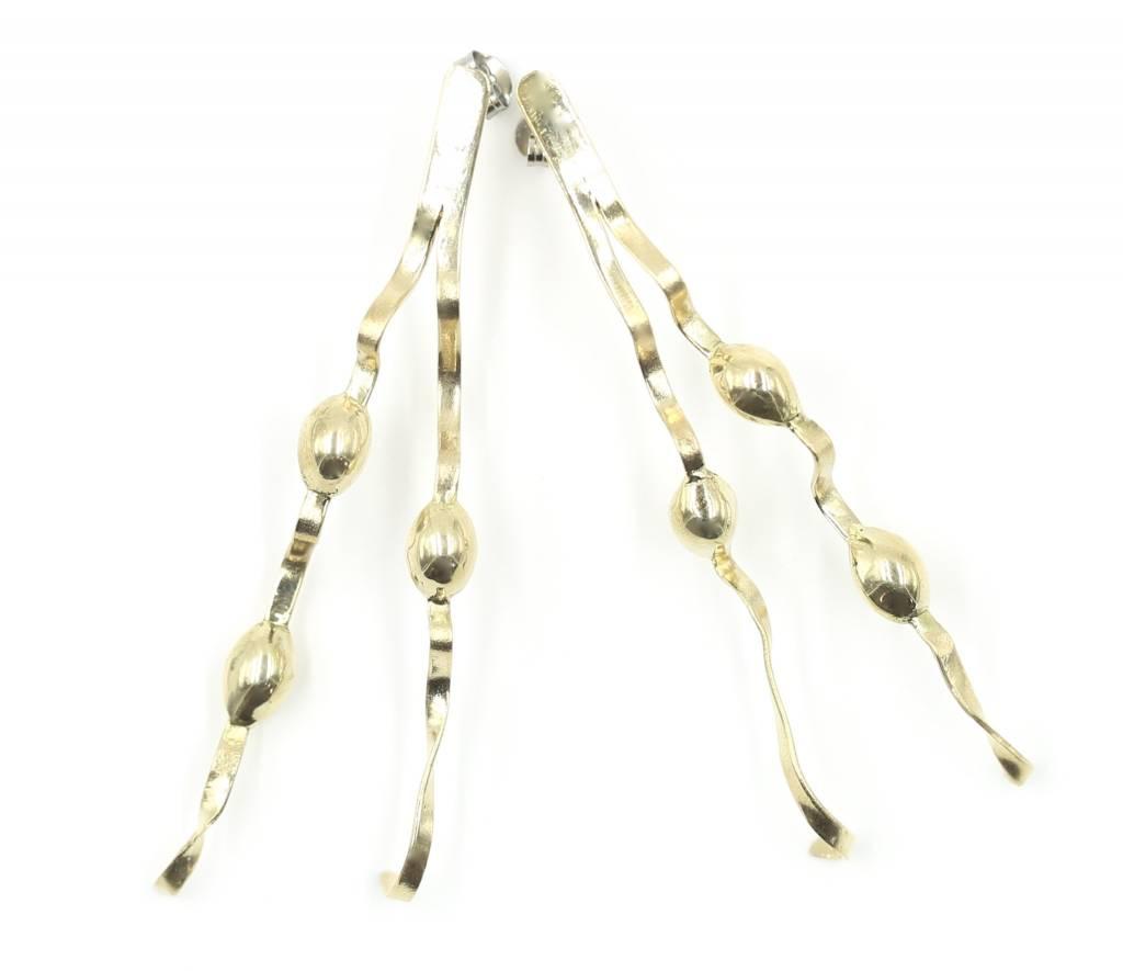 New England Seaweed Earrings - Tumbaga - Post