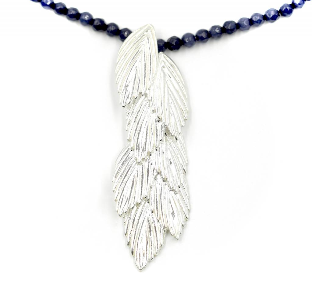 Sea Oats Pendant Necklace - Sterling Silver