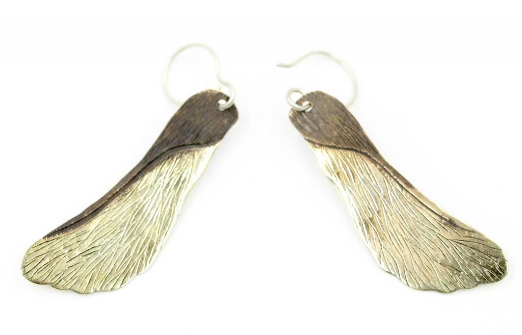 Maple Seed Earrings - Alpaca