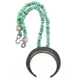Boars Tusk Pendant Necklace - Alpaca (Small) - Oxidized