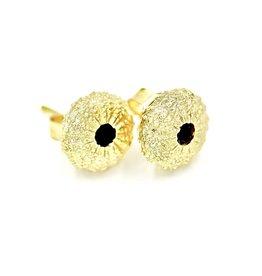 Sea Urchin Earrings - Vermeil - Small (Black Onyx)