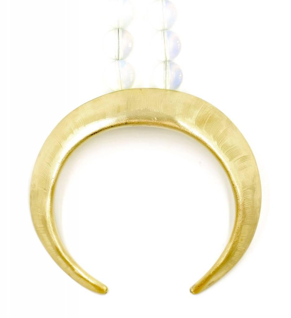 Boars Tusk Pendant Necklace - Tumbaga (Small) - Matte