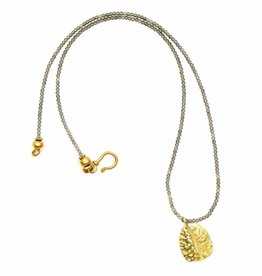 Alligator Scute Pendant Necklace - Vermeil (Large)