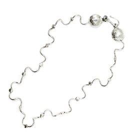 Worm Encasement Necklace - Sterling Silver