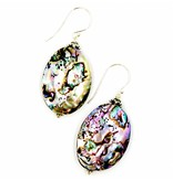 Abalone Drop Earring - Sterling Silver (Large)