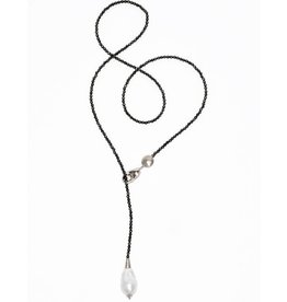 Baroque Pearl Adjustable Necklace - Sterling Silver