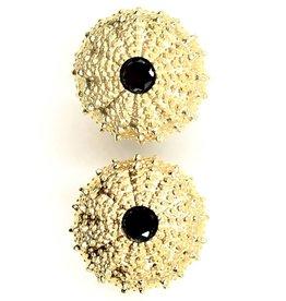 Sea Urchin Earrings - Vermeil - Medium (Black Onyx)