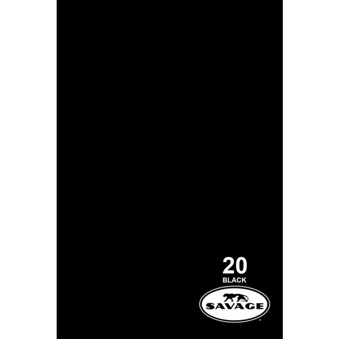 Savage 9x20 Vinyl Background Black