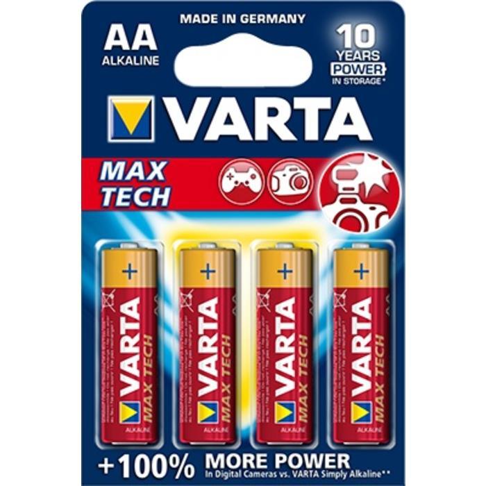 Varta AA MaxTech Batteries - 4 pack