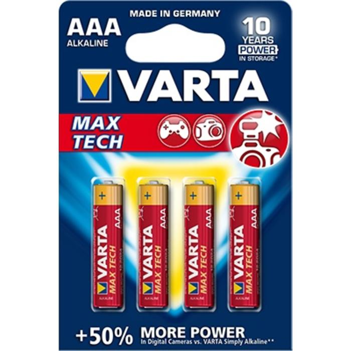 Varta AAA MaxTech Batteries - 4 pack