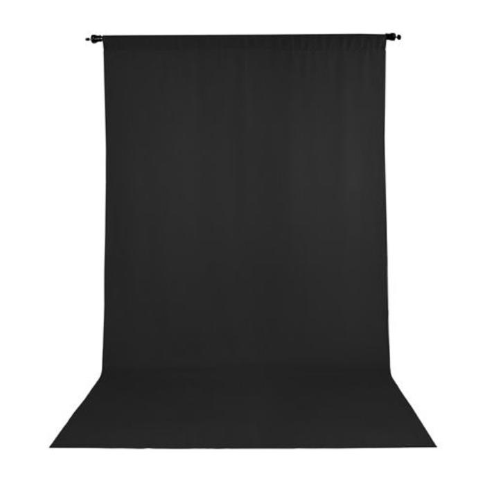 ProMaster 10x20 Solid Muslin Backdrop - Black