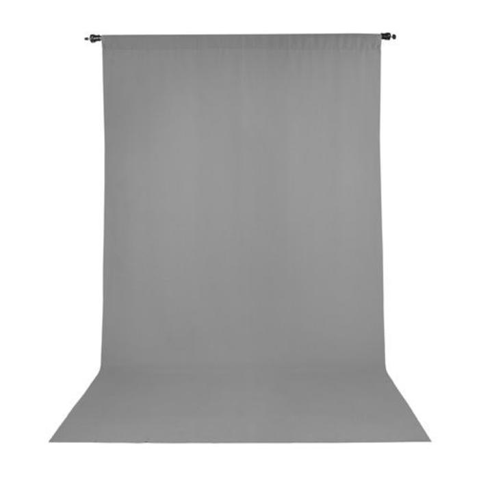 ProMaster 10x20 Solid Muslin Backdrop - Grey