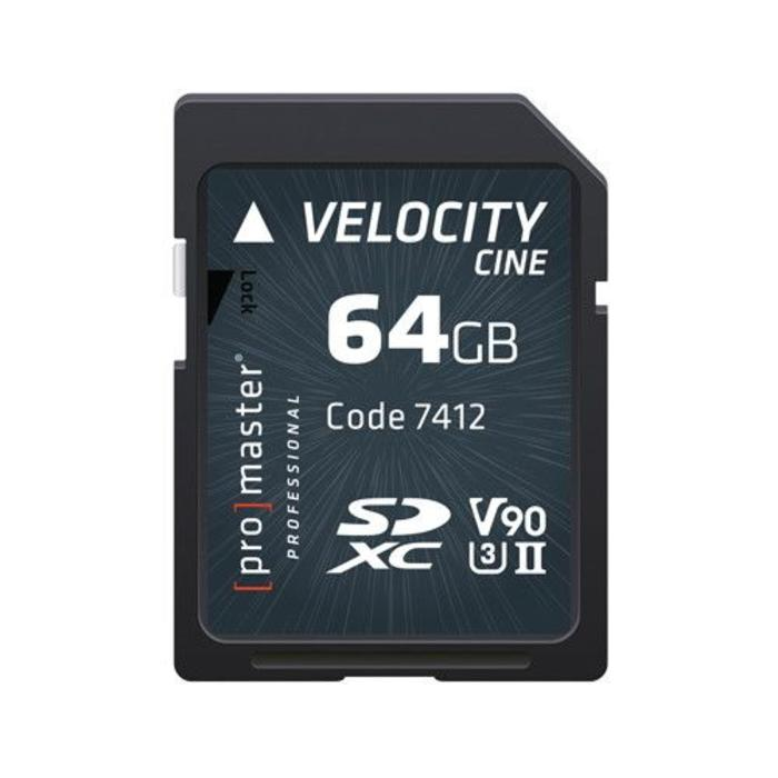 ProMaster Velocity CINE SDXC 64GB