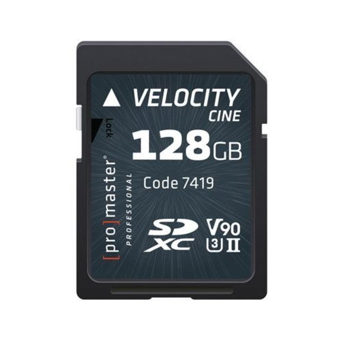 ProMaster Velocity CINE SDXC 128GB