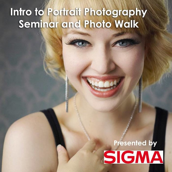 Sigma's Intro to Portrait Photography Seminar & Photo Walk