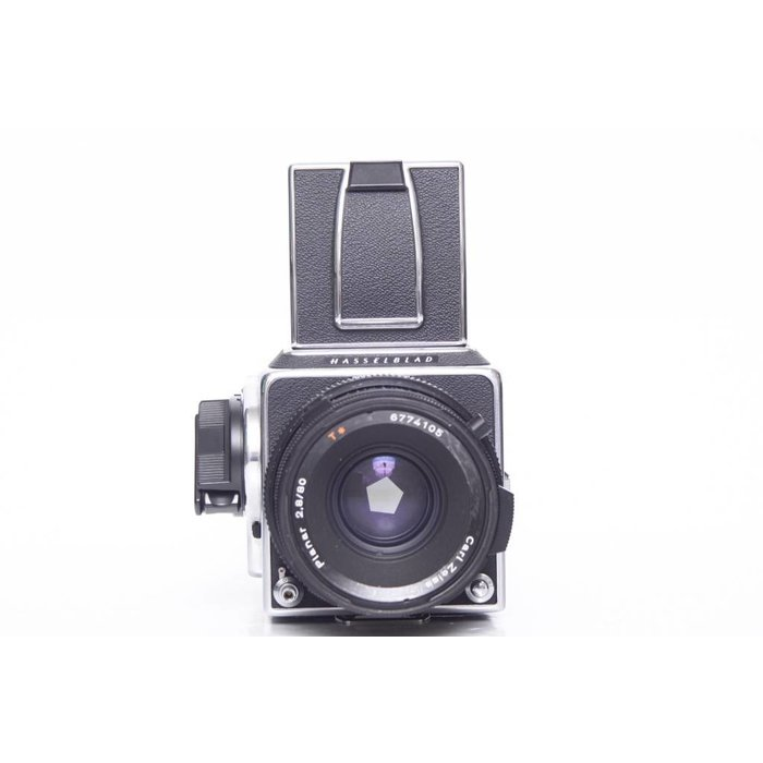 Hasselblad 500 C/M w/ 80mm CF T*, A12, and waist level finder
