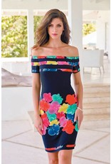 Frank Lyman Frank Lyman Navy/Multicolor Dress - 176146