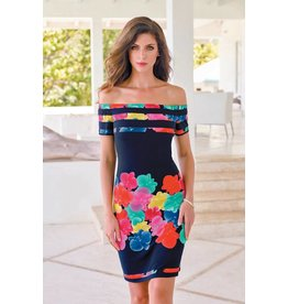 Frank Lyman Frank Lyman Navy/Multicolor Dress - 176146
