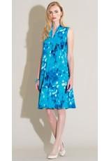 Clara Sun Woo Clara Sunwoo Water Drop Narrow V Sleeveless Swing Dress - DR84P