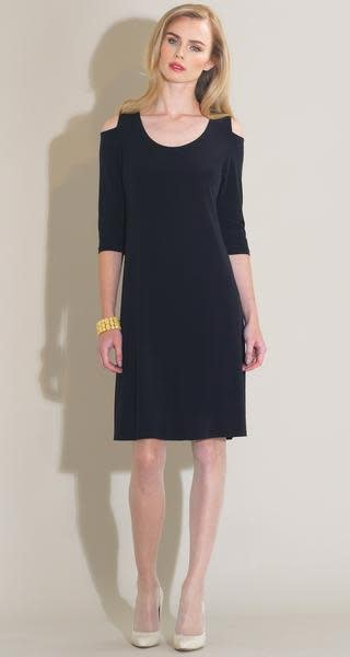 Clara Sun Woo Clara Sunwoo Open Shoulder Swing Dress - DR52