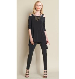 Clara Sun Woo Clara Sunwoo Signature Cold Shoulder Tunic - Solid - T101