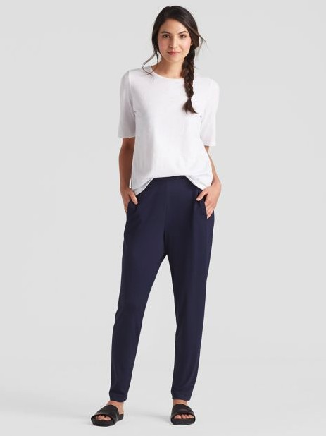 Eileen Fisher EILEEN FISHER SYSTEM VISCOSE JERSEY EASY PANT EEVF-P1271M