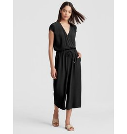 Eileen Fisher TENCEL VISCOSE CREPE CROPPED WIDE-LEG JUMPSUIT S8GHT-P3955M