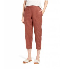 Eileen Fisher ORGANIC LINEN CROPPED PANT S8RI-P3948M