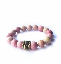 Lula n Lee Lula n Lee stretch bangle bracelet in rhodonite