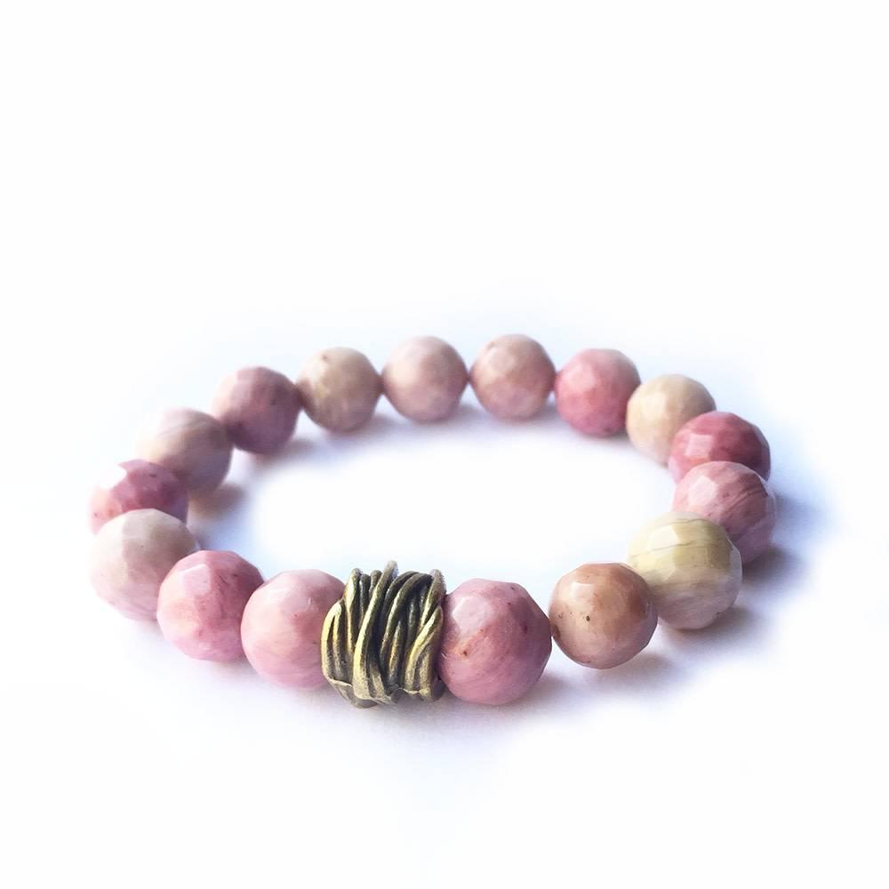 Lula n Lee Lula n Lee stretch bangle bracelet in rhodonite