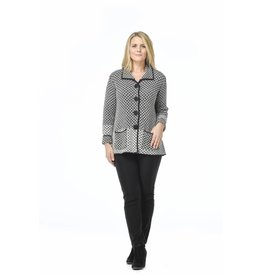 Habitat Lattice Stitch Cardigan in Stone