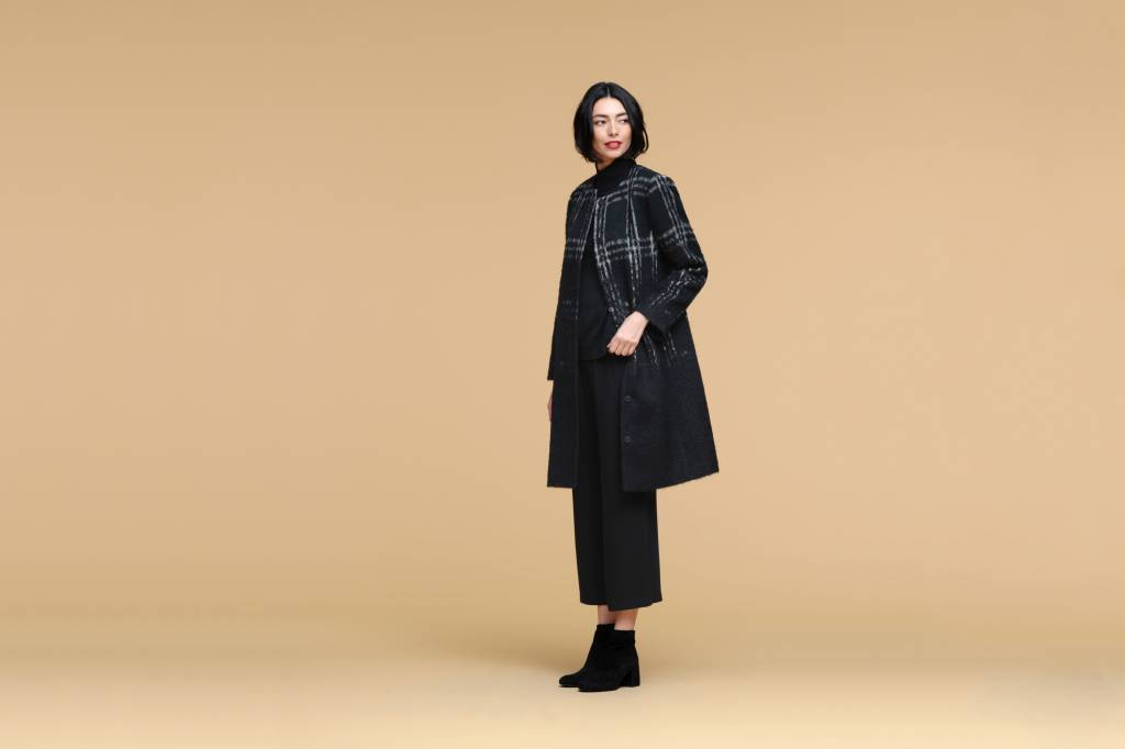 Eileen Fisher Alpaca Plaid Coat