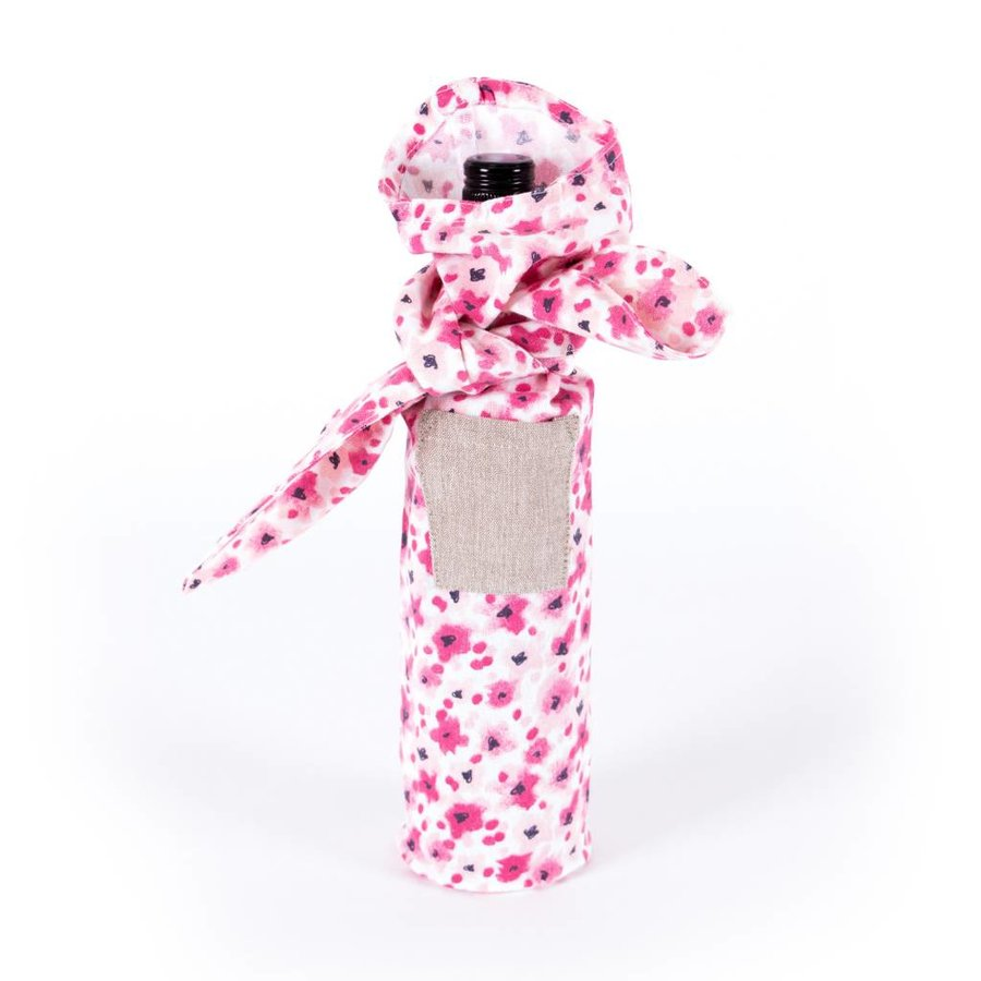 Knotted Wine Bag with Floral Pattern - Photo 0