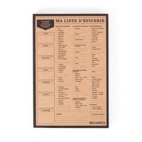 Liste d'épicerie en papier