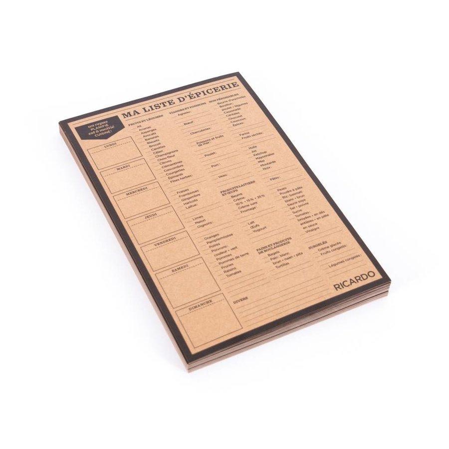 Liste d'épicerie en papier - Photo 1