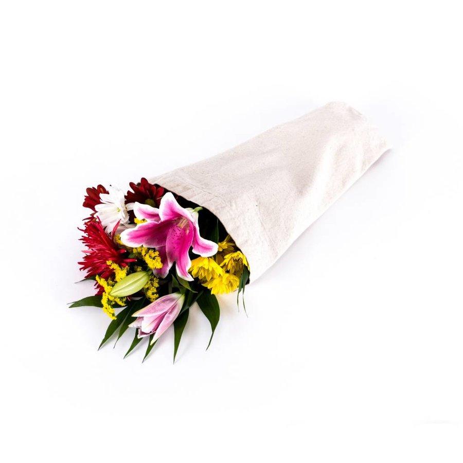 Sac à fleurs effet lin - Photo 0