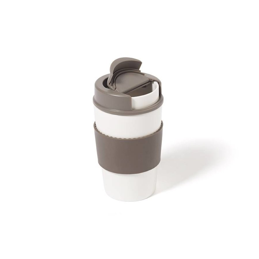 Ceramic Cup with Lid - Photo 1