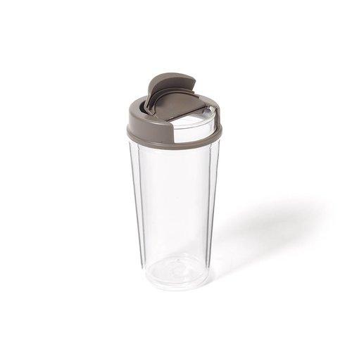 Tasse en verre avec couvercle