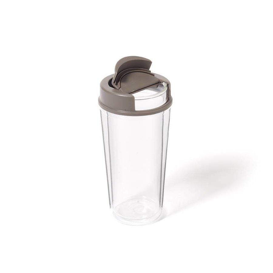 Tasse en verre avec couvercle - Photo 0